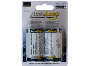 2-Pack D AccuLoop NiMH Batteries (8500 mAh)