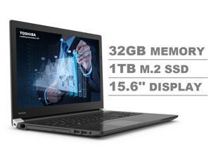 """Toshiba Dynabook Tecra A50-F 15.6"""" Full HD FHD (1920x1080) Business Laptop (Intel Quad Core i7-8565U, 32GB DDR4 RAM, 1TB M.2 SSD) Wi-Fi 6, Type-C, HDMI, 4 x USB, DVD, VGA, Windows 10 Pro 64-bit"""