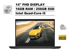 "2020 Lenovo ThinkPad E14 14"" FHD Full HD 1080p IPS Business Laptop (Intel Quad-Core i5-10210U, 16GB DDR4 RAM, 256GB PCIe M.2 SSD) Type-C, 720p Webcam, Fingerprint, HDMI, RJ-45, Windows 10 Pro"