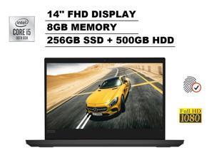 "2020 Lenovo ThinkPad E14 14"" FHD Full HD 1080p IPS Business Laptop (Intel Quad-Core i5-10210U, 8GB DDR4 RAM, 256GB PCIe M.2 SSD + 500GB HDD) Type-C, 720p Webcam, HDMI, RJ-45, Windows 10 Pro 64-bit"