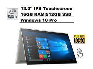 "HP ELITEBOOK X360 1030 G3 2-in-1 13.3"" IPS Touch FHD 1080p Business Laptop (Intel Quad-Core i5-8350U, 16GB RAM, 512GB PCIe M.2 SSD) Backlit, Fingerprint, Thunderbolt 3, Type-C, HDMI, Win 10 Pro 64"