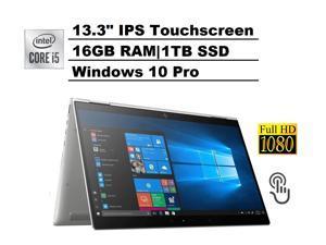 "HP ELITEBOOK X360 1030 G3 2-in-1 13.3"" IPS Touch FHD 1080p Business Laptop (Intel Quad-Core i5-8350U, 16GB RAM, 1TB PCIe M.2 SSD) Backlit, Fingerprint, Thunderbolt 3, Type-C, HDMI, Win 10 Pro 64"