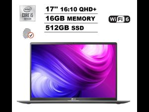 "2020 LG Gram 17"" WQXGA QHD+ (2560x1600) 16:10 IPS Ultra-Slim&Light Business Laptop (Intel Quad-Core i5-1035G7, 16GB DDR4, 512GB PCIe SSD) 17 Hours Battery Life, Thunderbolt 3, HDMI, Windows 10 Home"