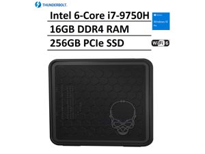2021 Newest Intel NUC 9 NUC9i7QNX Skull Ghost Canyon Extreme Gaming Box Elite Business Desktop (Intel 6-Core i7-9750H, 16GB RAM, 256GB PCIe SSD) 2 x Thunderbolt, WiFi 6, HDMI, Windows 10 Pro