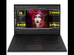 "2021 Lenovo Thinkpad P1 Gen 3 15.6"" FHD Mobile Workstation Laptop (Intel 8-Core i9-10885H, 64GB RAM, 2TB PCIe SSD, Quadro T2000 Graphics) Backlit , Thunderbolt, Fingerprint, Windows 10 Pro"