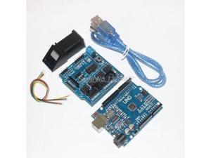 Fingerprint Module for arduino kit Optical fingerprint sensor + UNO R3 + v5.0 Sensor Shield expansion board