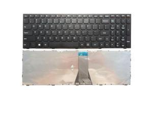 Replacement Laptop replacement keyboard with frame for Lenovo IdeaPad 300-15ISK 300-15IBR 300-17ISK, US layout black color