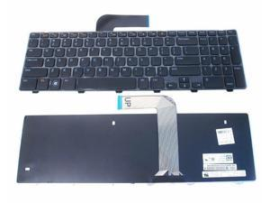 perfk US Layout Replacement Laptop Keyboard Glossy Black Frame for Dell Latitude D620 D630 D820 D830 Precision M65 DR160 0DR160