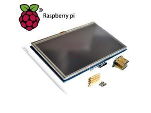 LCD module Pi TFT 5 inch Resistive Touch Screen LCD shield module HDMI interface for Raspberry Pi 3 A /B /2B