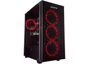 Periphio Red Gaming PC Tower Desktop Computer, Intel Quad Core i7 3.3GHz, 16GB RAM, 512GB SSD + 1TB 7200 RPM HDD, Windows 10, GTX 1650 SUPER Graphics Card, RGB, HDMI, Wi-Fi