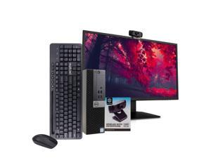 "Dell 7040 Desktop Computer PC, i5-6500, 16GB RAM, 512GB SSD, Windows 10 Pro, New 23.6"" Monitor, New 1080p Periphio Webcam, New Periphio Wireless Keyboard & Mouse, New 16GB Flash Drive, WiFi"
