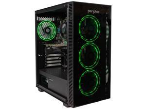 Periphio Green Gaming PC (Pro-Edition), Intel i5 6500, NVIDIA GeForce 1060 (3GB), 16GB DDR4 RAM, 240GB SSD + 1TB HDD, Windows 10 Home, WIFI, RGB Gaming Computer Tower