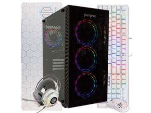 Periphio Gaming PC Tower Desktop Computer, Intel Quad Core i5 3.2GHz, 8GB RAM, 120GB SSD + 1TB 7200 RPM HDD, Windows 10, GTX 1050TI Graphics Card, RGB, HDMI, Wi-Fi (Renewed)