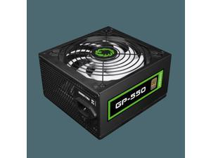 GameMax 550W Computer Power Supply / 80+ Bronze Efficiency / Single 12v Rail for Stable Gaming Performance / ATX / Ultra-Quiet Operation / GP-550 PSU