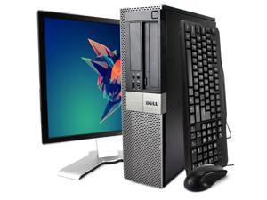 """Dell Gray Optiplex 980 Desktop Intel 1st Gen i5-650 (3.2 GHz) 8GB 120GB SSD Intel 1st Gen HD Graphics DVD-RW Win 10 Home 19"""" Monitor Display WiFi"""