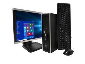 "HP Compaq 6300 Elite Desktop Intel 3rd Gen i5-3470 (3.2 GHz) 16GB 500GB HDD Intel HD Graphics DVD-ROM Win 10 Pro, 19"" Monitor Kit (models may vary)"