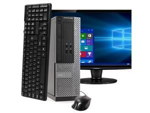 "Dell OptiPlex 3020 Small Form Factor Computer PC, 3.20 GHz Intel i5 Quad Core Gen 4, 4GB DDR3 RAM, 240GB SSD Hard Drive, Windows 10 Home 64 bit, 22"" Screen"