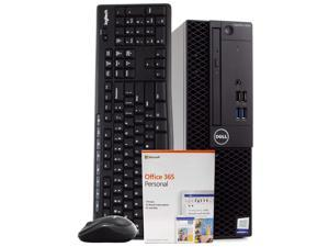 Dell 3050 Small Form PC Desktop Computer, Intel i5-6500 3.2GHz, 8GB RAM, 500GB HDD, Windows 10 Pro, Microsoft Office 365 Personal, Wireless Keyboard & Mouse, New 16GB Flash Drive, DVD, WiFi