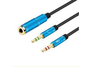 1Pcs 3.5mm Audio Cable Headphone Microphone Splitter 3.5mm 2 Male To Female Jack AUX Extension Adapter PC Converter Cord YS 199