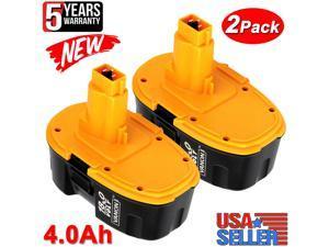 2Pack DC9096 18V XRP Battery for Dewalt 18Volt DC9096-2 DC9096-2S DC9099 DC9098 DW9099 DE9096 DE9098 DW9095 DW9096 DW9098 DE9503 DE9039 DE9095 NiMH 4.0Ah