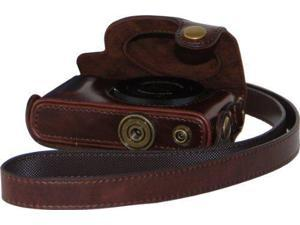 MegaGear Ever Ready Protective Dark Brown Leather Camera Case, Bag for Case for Canon Powershot S110 Digital Cameras