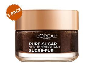 3-PACK L'Oreal Paris Pure Sugar Face Scrub with Kona Coffee to Instantly Resurface and Energize Skin, 1.7 oz. each (5.1 oz.)