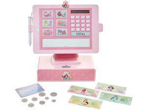 Disney Princess Style Collection Shop 'N Play Cash Register with Sounds and Phrases for Girls Ages Three and Up, Pink