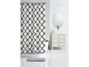 Charter Club Trellis Print 72 Inch x 72 Inch Paisley Striking Shower Curtain, Grey