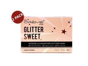 2-PACK The Creme Shop Glitter Sweet, Intense Illumination Skin Care Facial Glitter Mask, Helps Reveal a More Radiant and Softer Complexion, 3.17 oz. each (6.34 oz.)