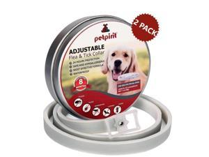 2-PACK Petpirit Flea and Tick Adjustable Prevention Collar for Dogs, 8 Months Protection, One Size Fits All