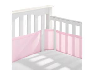 BreathableBaby Classic Breathable Mesh Crib Liner to Prevent Limb Entrapment, Light Pink