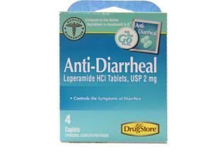 Lil' Drug Store Anti Diarrheal USP 2 mg Loperamide Hydrochloride Tablets , 4 Caplets