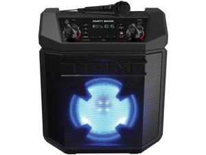 Ion Audio Party Boom Bluetooth Wireless Speaker System with 100-Watt Peak Power Amplifier, Color-Changing Woofer, AM/FM Radio, and USB Charging, IPA101