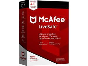 McAfee 2018 LifeSafe 1 Year Subscription, Premium Antivirus Protection For Up To 10 Of Your Devices
