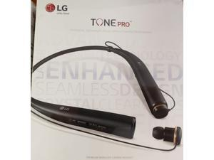 LG TONE PRO In-Ear Earbuds Headphones Bluetooth Wireless Stereo Neckband Headset with Built-In Remote and Mic, Black