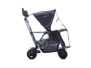 Joovy Caboose Ultralight Tandem Stroller Rain Cover, Weather Shield for Caboose Stroller, Clear