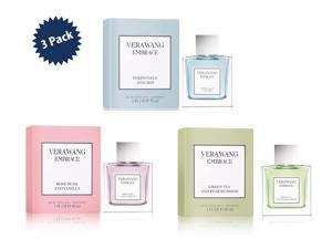 3-PACK Vera Wang Embrace Perfume Bundle Gift Set, Green Tea & Pear Blossom, Rose Buds & Vanilla, Periwinkle & Iris Fragrance Set, Eau de Toilette, 1 oz. each (3 oz.)