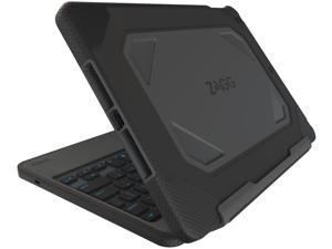 ZAGG Rugged Book Case Durable Hinged with Detachable Backlit Keyboard for iPad Air 2 - Black (ID6RGK-BB0)
