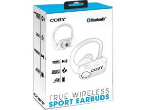 Coby True Wireless Sport Earbuds, White
