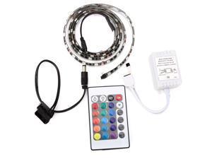 1M Full Color 5050 RGB LED Light Strip Computer Case 60 Light 24 Key Remote Control