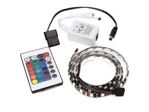 RGB 5050 LED Light Strip 2M 24 Key Remote Control 60 Color for Computer Chassis