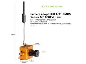 XIUMEI LST-S1 Micro Viewing angle 150° 800TVL Camera Only 8g 5.8GHz 40CH 25mW FPV Transmitter