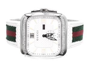 Mens Gucci Coup in White YA131303 (1.0 ct)