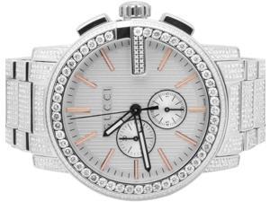 Mens G-Chrono Gucci 44 MM Diamond Watch YA101201 14 Ct