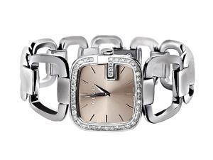 Ladies Gucci YA125402 Champagne Dial Diamond Dress Watch (2.0ct.)