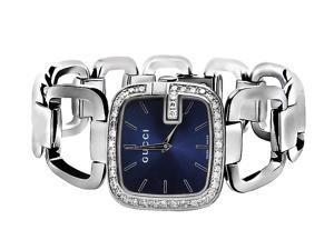 Ladies Gucci YA125405 Blue Dial Diamond Dress Watch (2.0ct.)