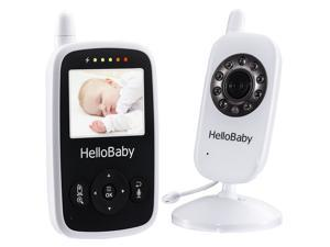 Hellobaby wireless video baby monitor HB24 with2.4GHz and night vision , temperature monitoring &two way talk system