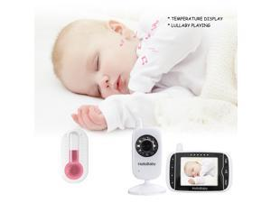 "Hellobaby wireless video baby monitor with2.4GHz and 3.2"" LCD , night vision , temperature monitoring &two way talk system"