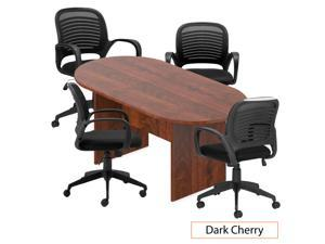 GOF 6FT, 8FT, 10FT Conference Table Multifunctional Computer Chair (G10901B) Set, Cherry, Espresso, Mahogany, Walnut, Artisan Grey