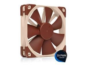Noctua NF-F12 5V PWM, Premium Quiet Fan with USB Power Adaptor Cable, 4-Pin, 5V Version (120mm, Brown)